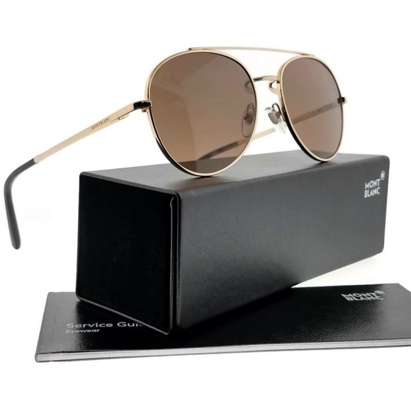 357995e473 MB605S-28J-56 Men s Rose Gold Frame Sunglasses NWT. NWT. Montblanc